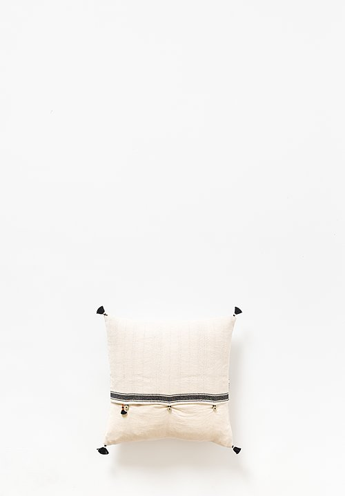Injiri Small Square Rebari Pillow in Cream