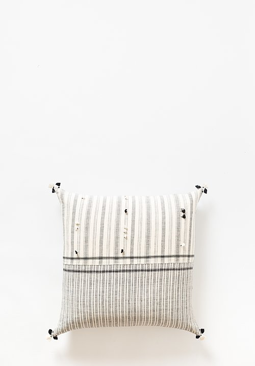 Injiri Large Rebari Pillow in Cream / Grey