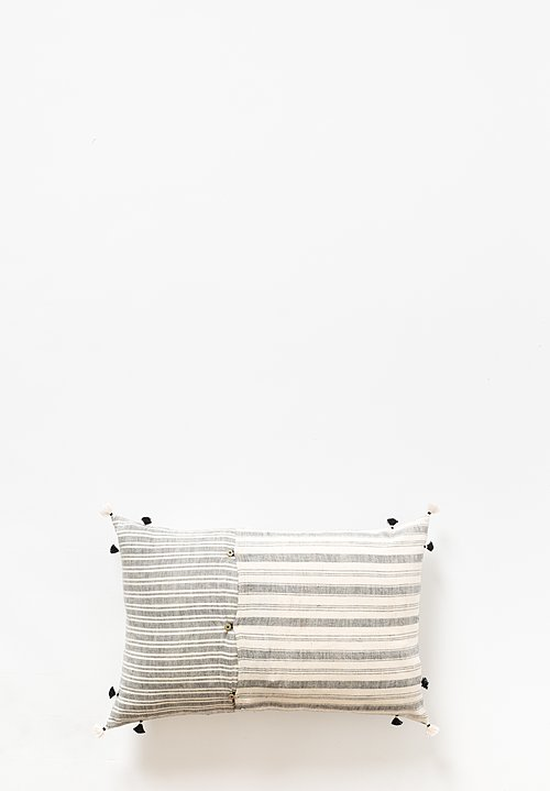 Injiri Rebari Lumbar Pillow in Cream / Grey