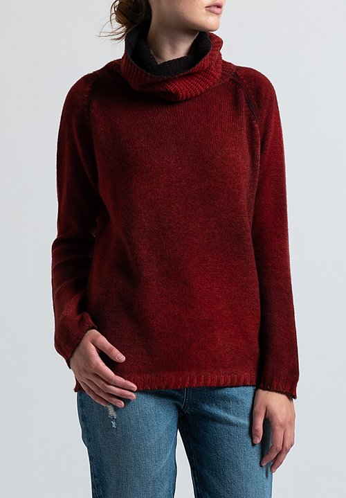 Avant Toi Square Turtleneck Sweater in Nero/ Smalto