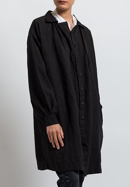 Kaval High Count Smock Jacket in Black