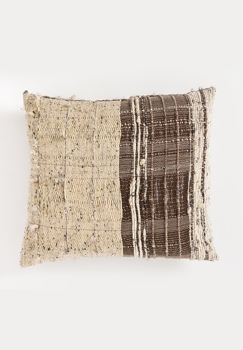 Celine Cannon Handspun Cushion in Beige Oatmeal