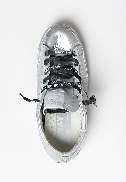 Golden Goose Limited Edition Superstar Sneakers in Silver