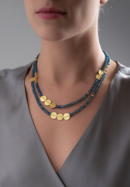 Greig Porter 18K, London Blue Topaz Necklace