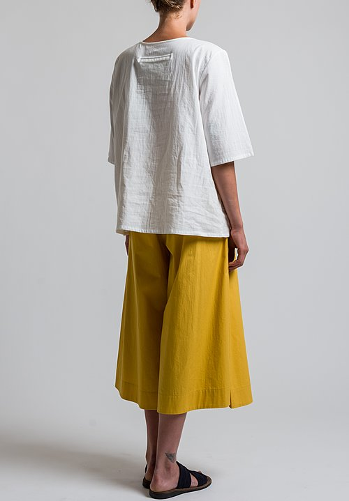 Toogood Percale Boxer Trousers in Sun