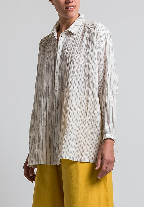 Toogood Striped Draughtsman Shirt in Flint