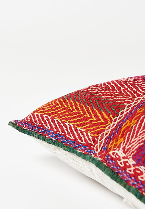 Antique Saami Quilt Square Pillow in Zigzag