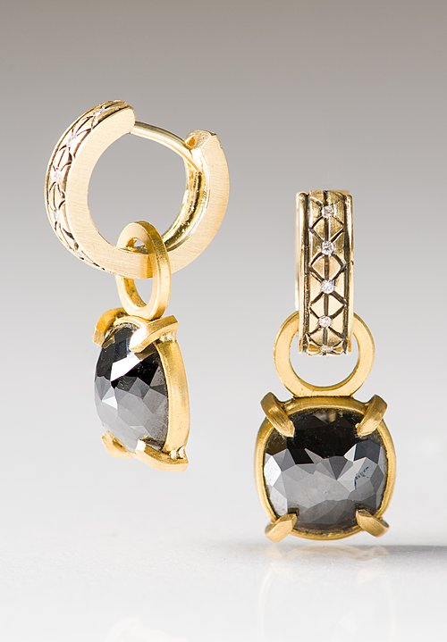 Karen Melfi 22K, Black Diamond Earring Charms