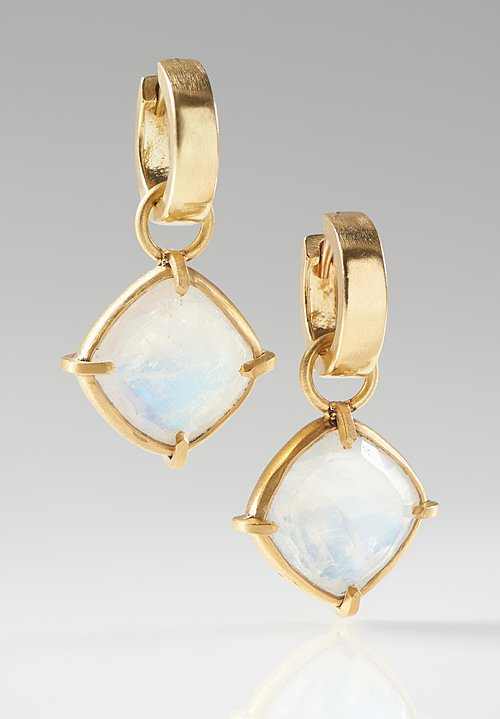 Karen Melfi 22K, Rainbow Moonstone Earring Charms