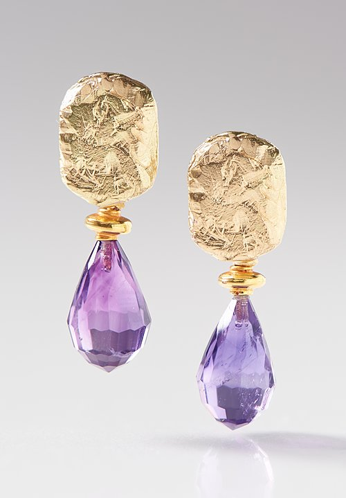 Greig Porter 18K, Purple Amethyst Earrings