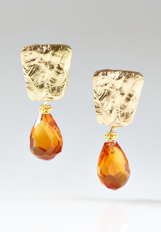 Greig Porter 18K, Citrine Earrings