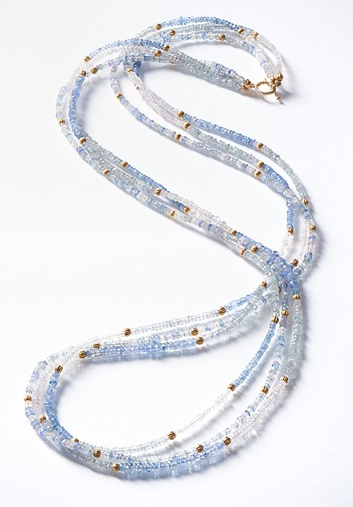 Greig Porter 18K, Sapphire Triple Strand Necklace