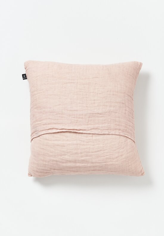 Himla Linen Hannelin Square Pillow in Pink
