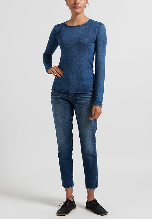 Avant Toi Rolled Hem Sweater in Deep