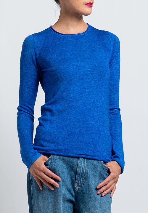 Avant Toi Rolled Hem Sweater in Blue