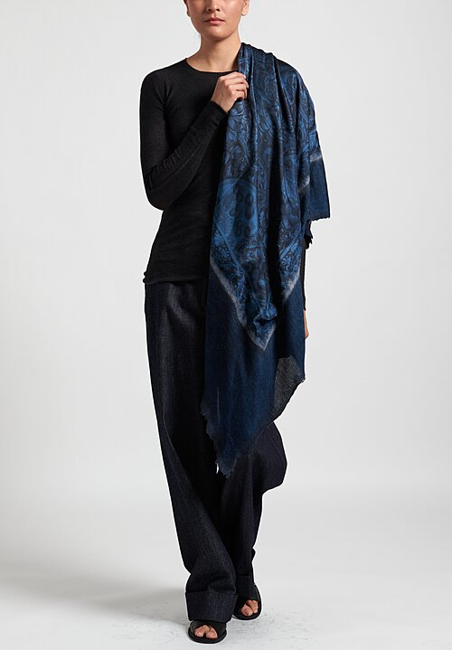 Avant Toi Cashmere/ Silk Small Felted Patchwork Scarf