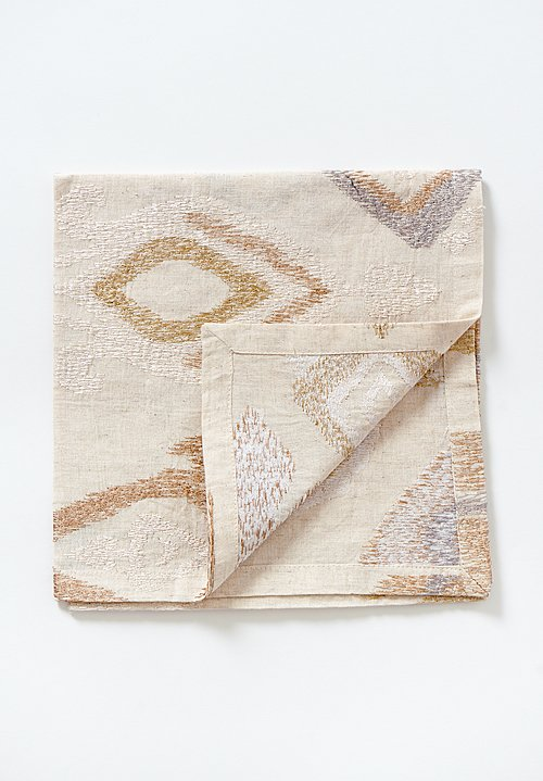 Kim Seybert Marrakech Napkin in Natural / Ivory