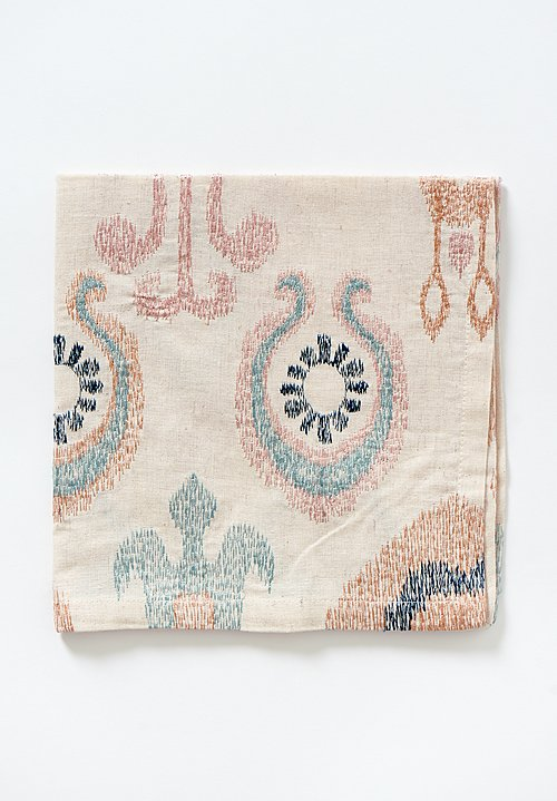Kim Seybert Marrakech Napkin in Natural / Seafoam