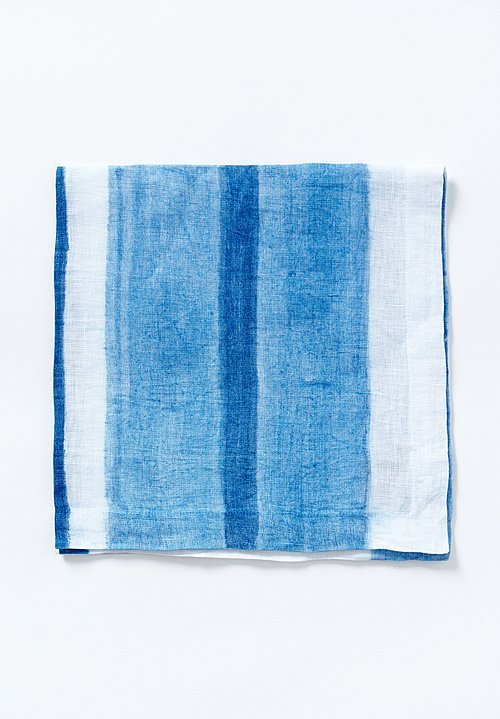 Kim Seybert Linen Horizon Napkin in White / Blue