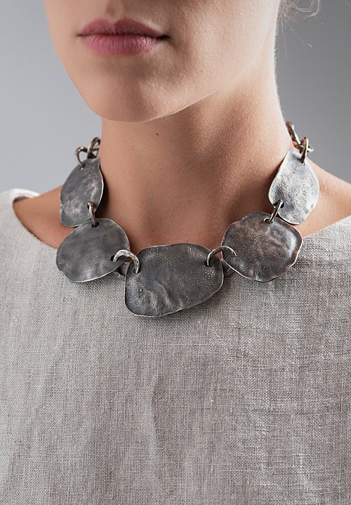 Holly Masterson Hand-Formed 5 Oval Disk Necklace