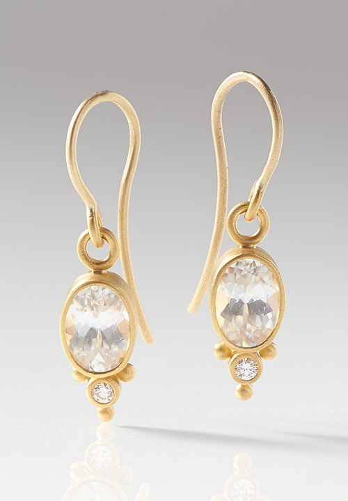 Denise Betesh 22K, Diamond Earrings