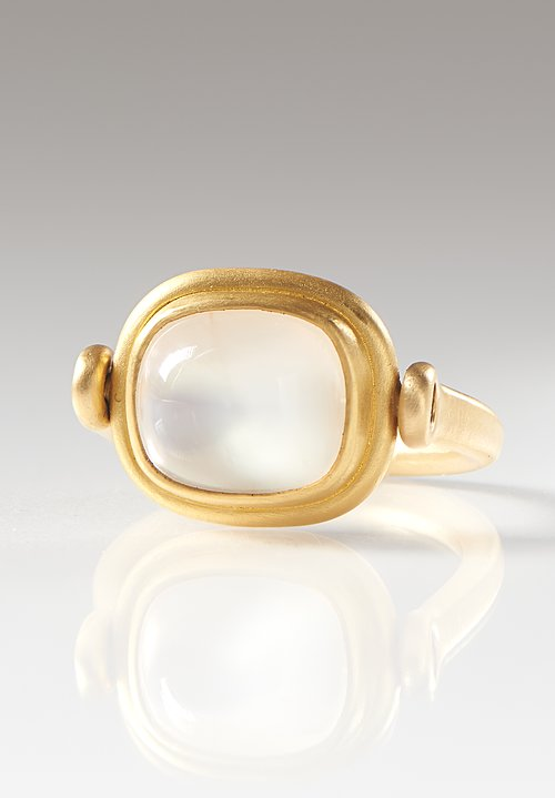 Denise Betesh 22K, Moonstone Swivel Ring