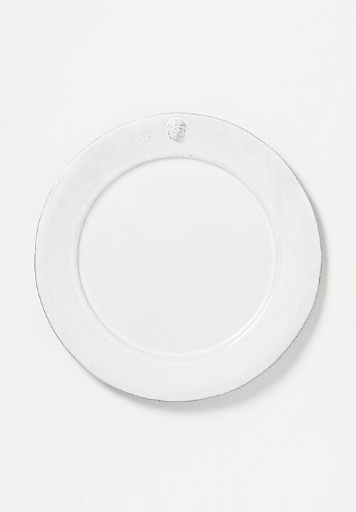 Astier de Villatte Large Alexandre Dinner Plate in White