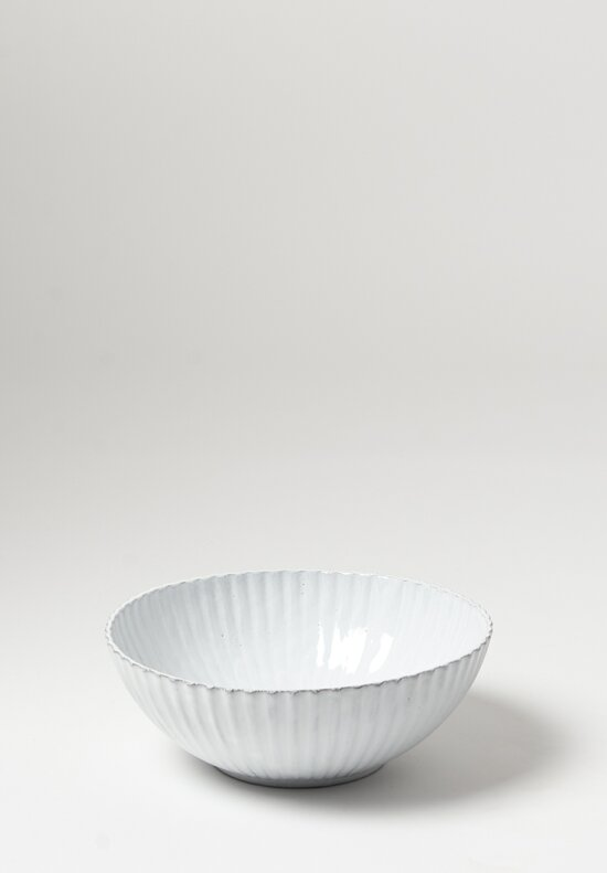 Astier de Villatte Large Petulla Salad Bowl in White