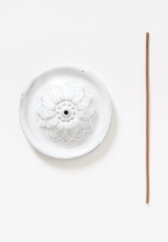 Astier de Villatte Simple Emilie Incense Holder in White