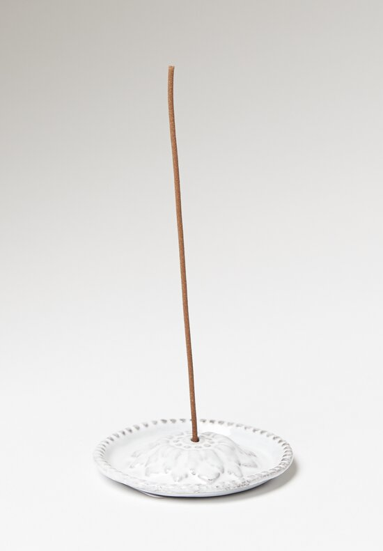 Astier de Villatte Emilie Incense Holder with Beaded Border