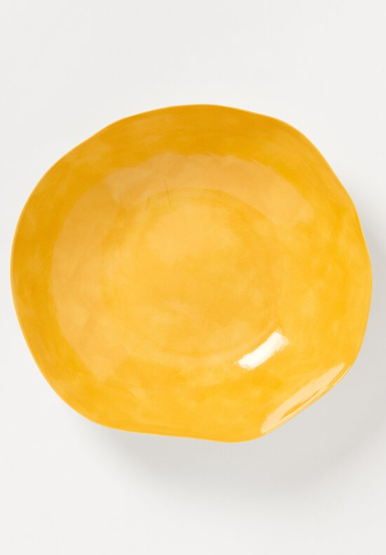 Handmade Porcelain Interior Large Serving Bowl in Giallo Yellow