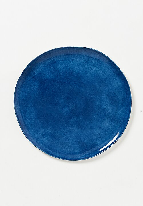 Bertozzi Solid Painted Large Dinner Plate in Blue