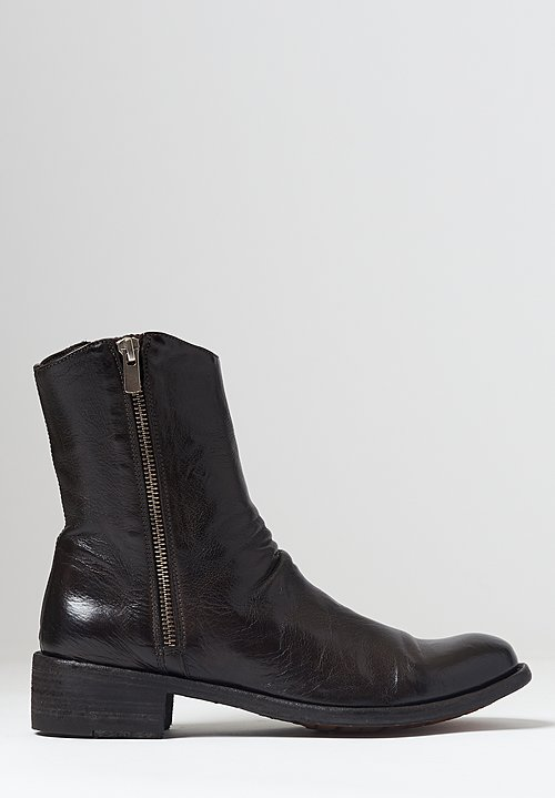 Officine Creative Lison Ignis Ankle Boot in Dark Brown