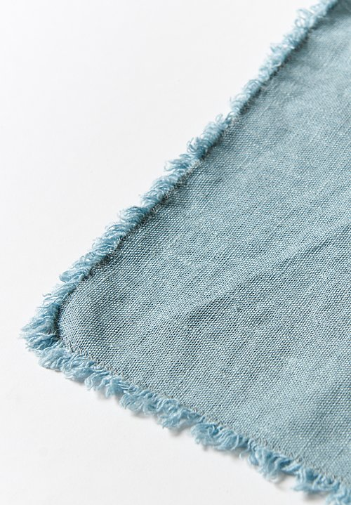 Aqua Vireo Naturally Dyed Set of 6 Chloe Napkins in Sage