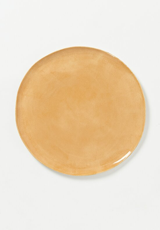 Bertozzi Porcelain Interior Painted Large Dinner Plate in Bruno Luce Brown