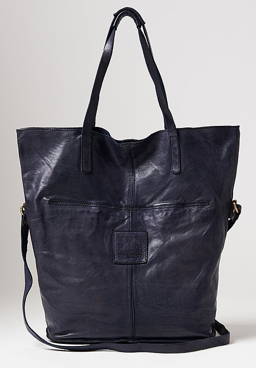 Campomaggi Large Shopping Tote in Blue
