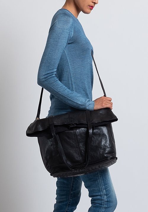 Campomaggi Large Shopping Tote in Black