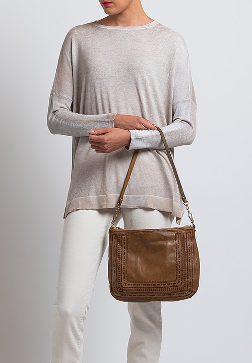 Campomaggi Laser Cut Detail Corallo Bag in Tan
