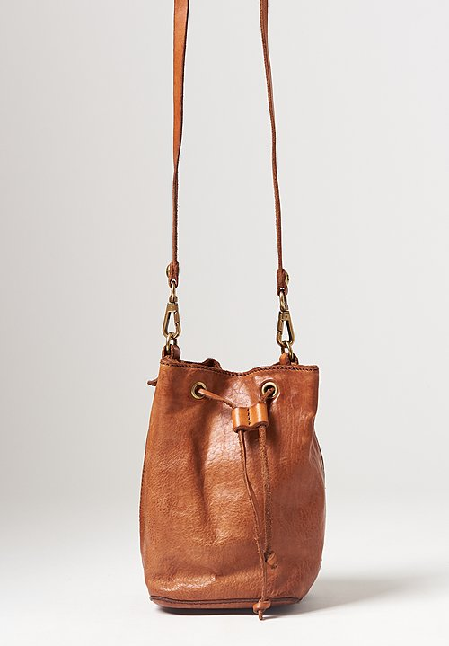 Campomaggi Cinch Top Bucket Bag in Cognac