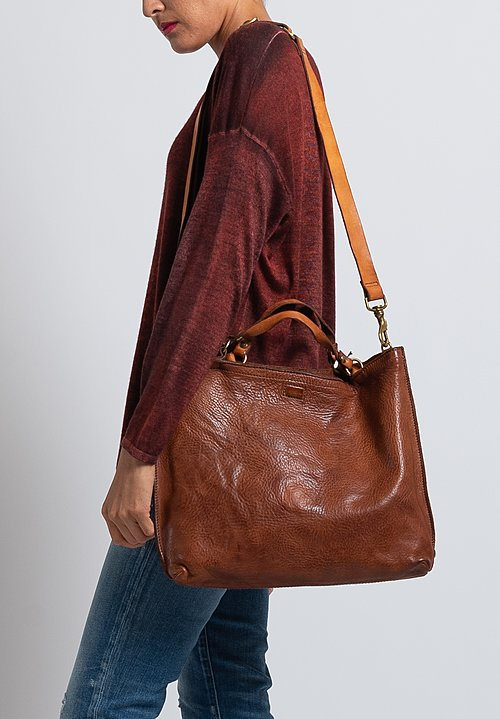 Campomaggi Medium Shopping Bag in Cognac