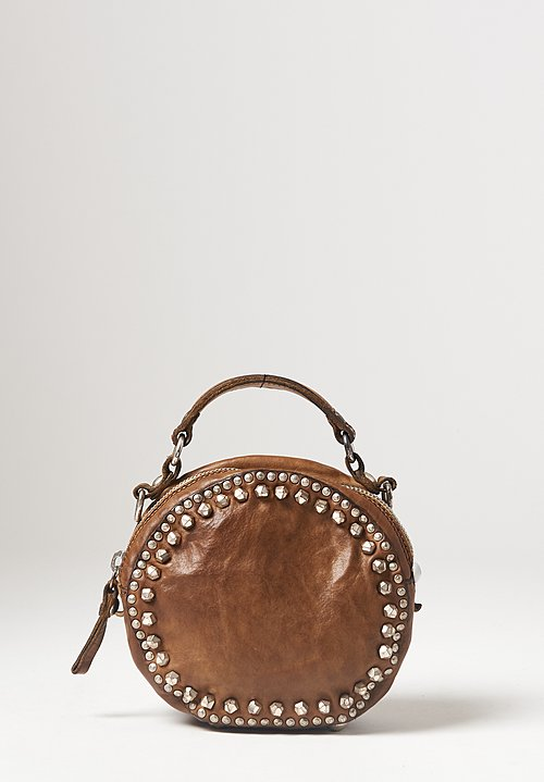 Campomaggi Small Studded Bowling Bag in Military