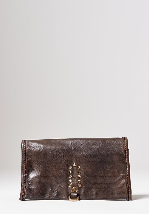 Campomaggi Leather Wallet in Grey