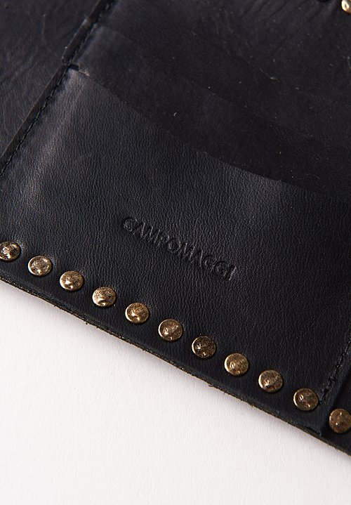 Campomaggi Studded Zip Wallet in Black