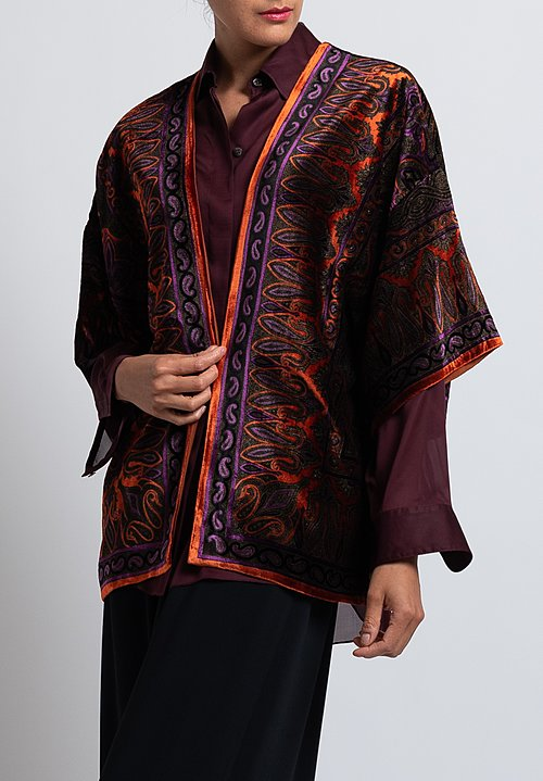 Etro Velvet Paisley Kesa Jacket in Black