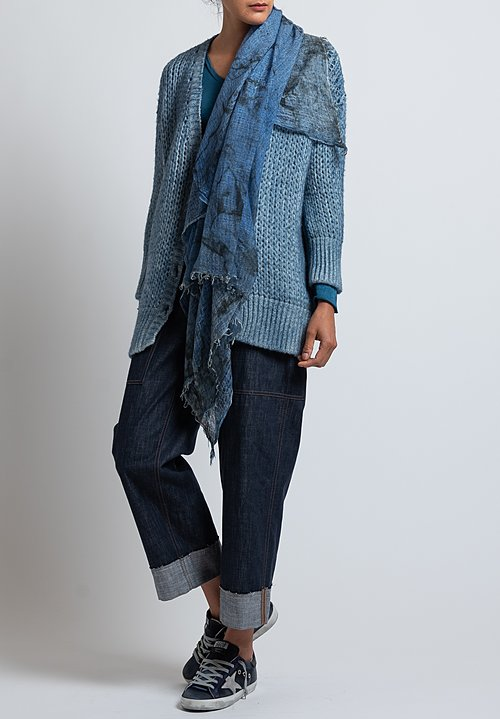 Avant Toi Loose-Knit Cardigan in Deep
