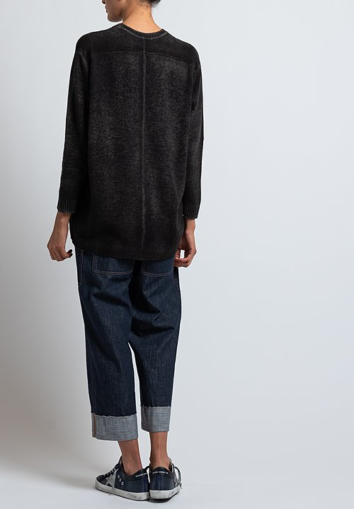 Avant Toi Boxy Cashmere Sweater in Carruba