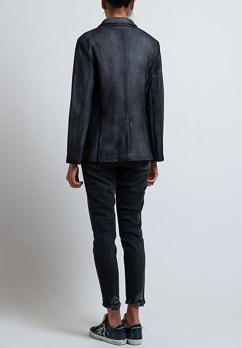 Avant Toi Spray Dyed Felt Blazer in Nero/ Nero