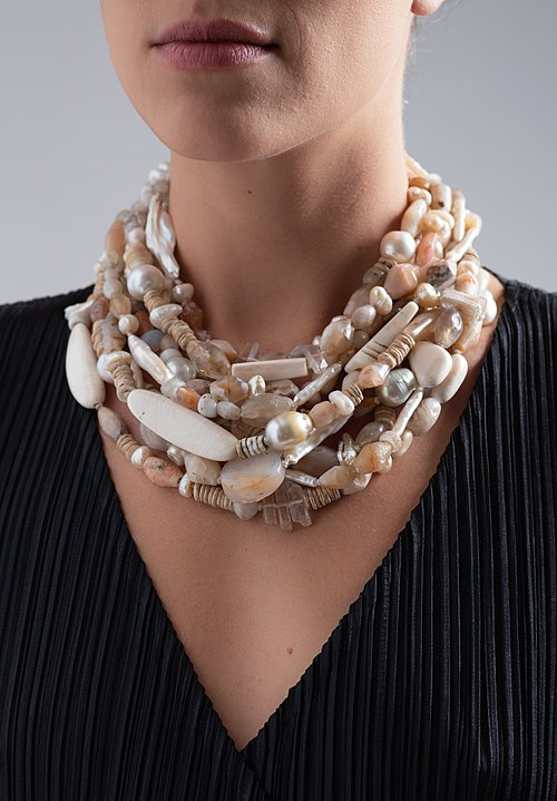 Monies UNQIUE Cornelia (BCE), Mammoth, Pearl, Mt. Crystal Necklace