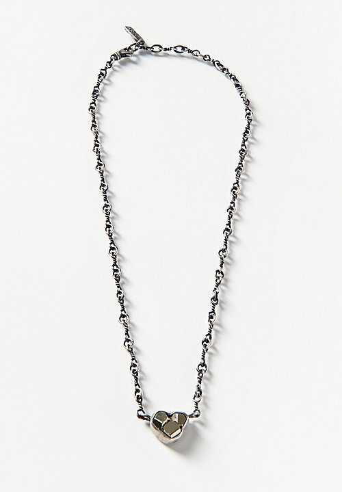 Miranda Hicks Sterling, Pyrite Cluster Twisted Bar Chain Choker