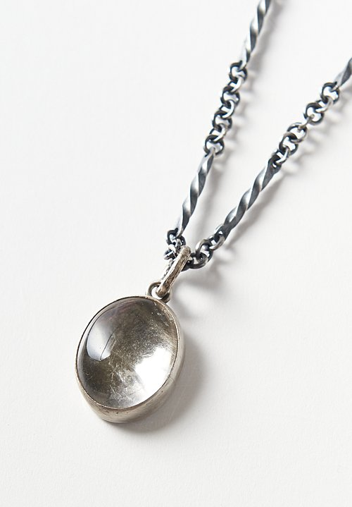 Miranda Hicks Sterling, Quartz, Mica 'Skry' Pendant & Hand-Forged Chain